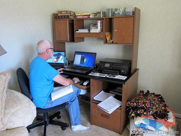big computer desk