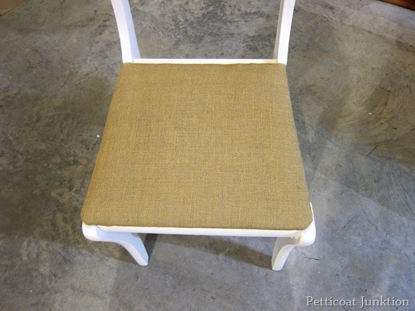 cover a chair seat with burlap petticoat junktion