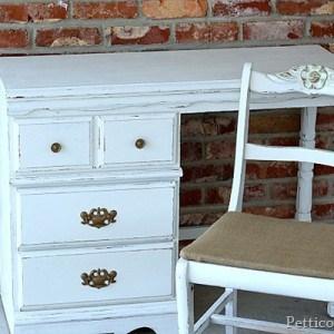 Dynamic Duo- White Paint & Burlap