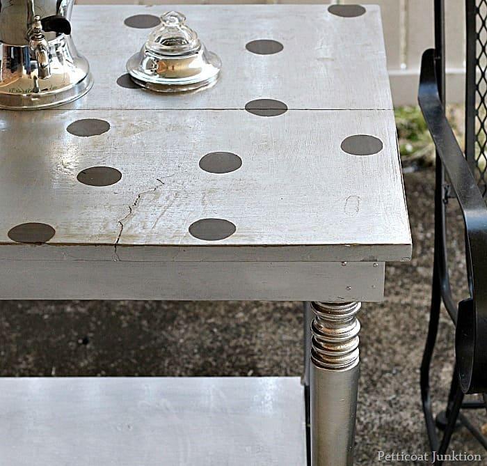 Playful Polka Dots Highlight Metallic Silver Paint