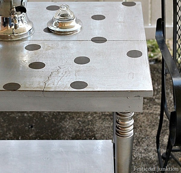 furniture makeover with metallic paint petticoat junktion