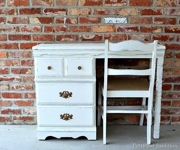 modernize furniture using paint and burlap petticoat junktion