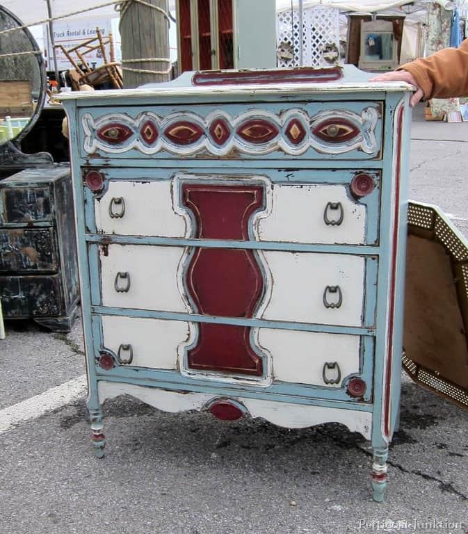 Elegant Multi Color Painted Chest By Crabtree Corner Nashville Flea Market Shopping  Trip Petticoat Junktion