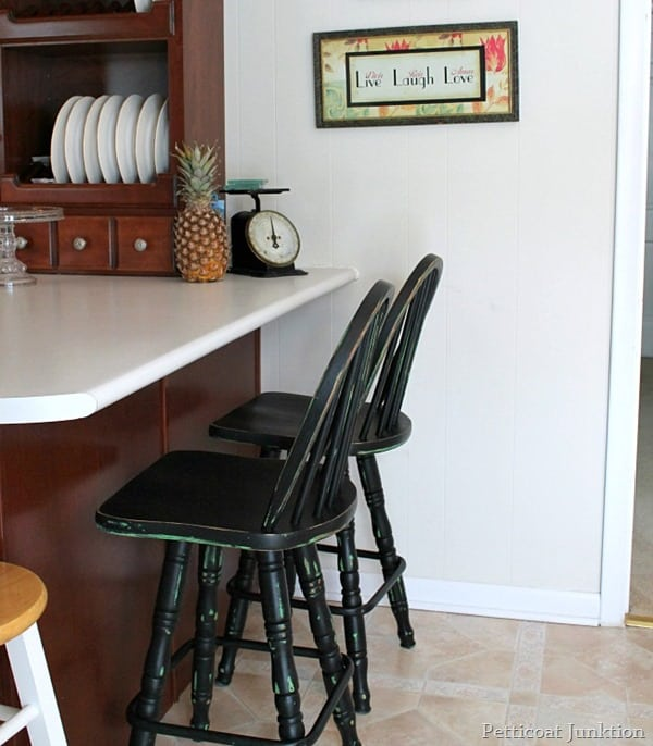 painted black bar stools