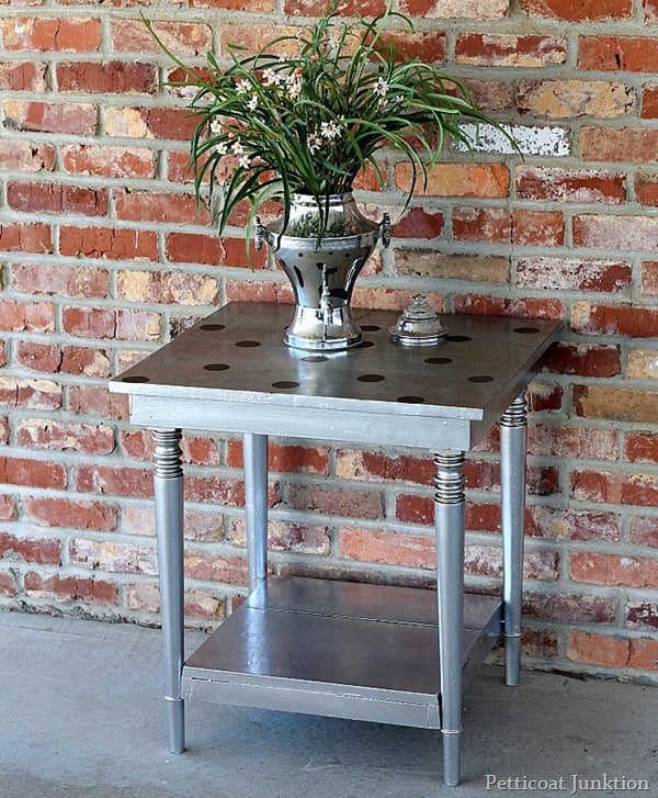 painted furniture featuring metallic paint petticoat junktion