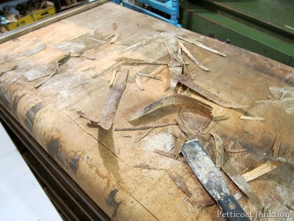 removing loose and peeling veneer petticoat junktion