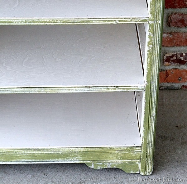 shabby chic painted cabinet for laptop storage petticoat junktion