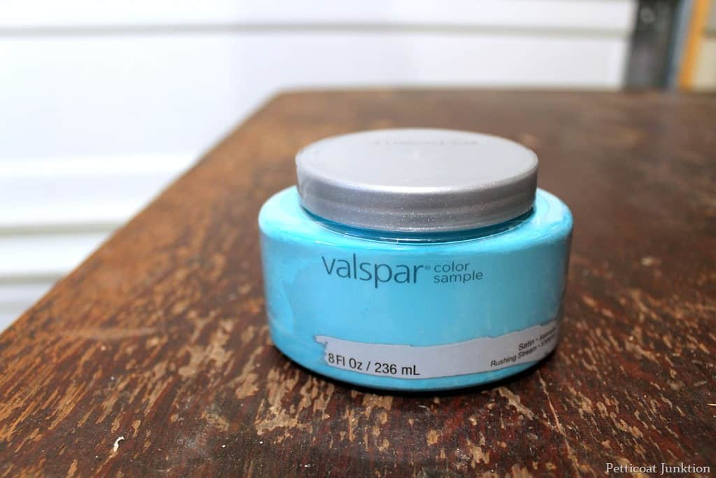 Silver spray paint and turquoise are the perfect pair for Is valspar good paint