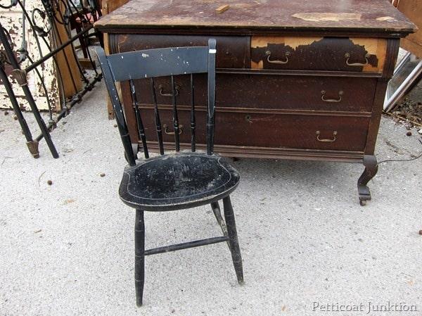 black chair petticoat junktion