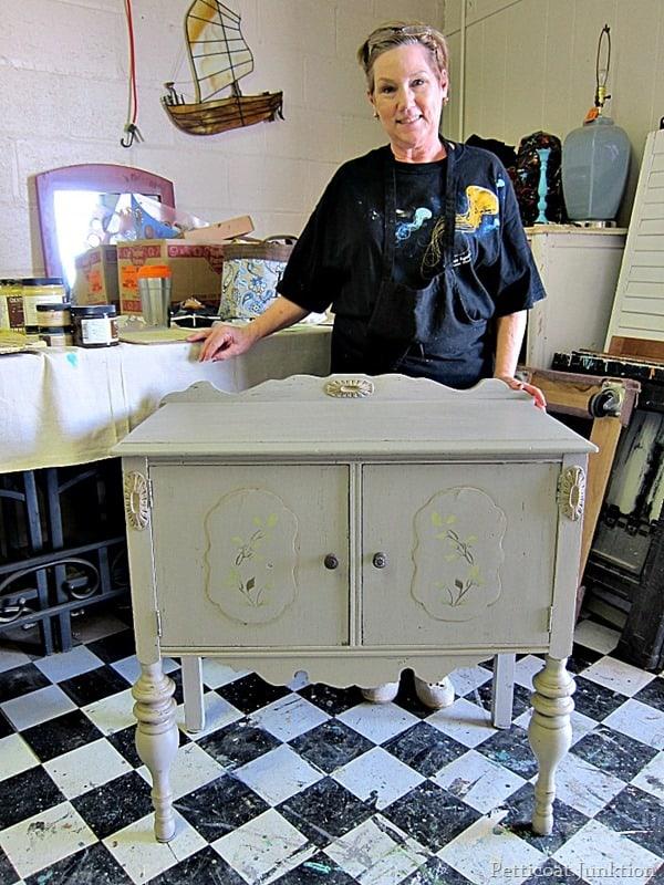 cabinet project petticoat junktion painting furniture workshop