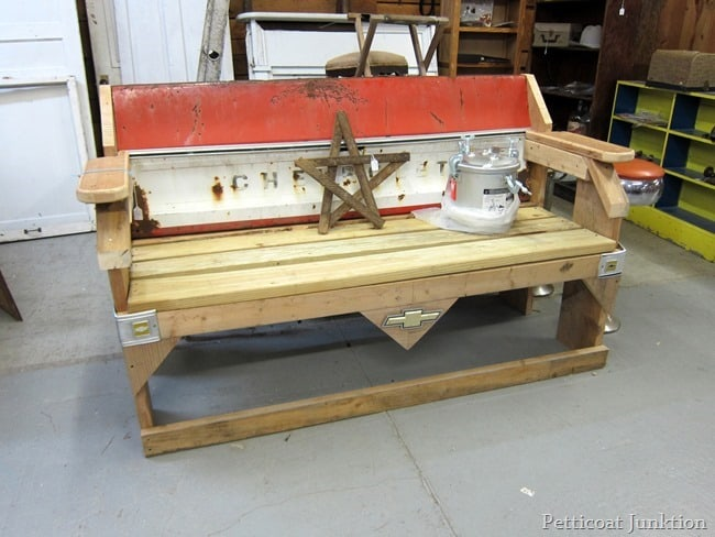 homemade chevrolet bench junkin trip petticoat junktion