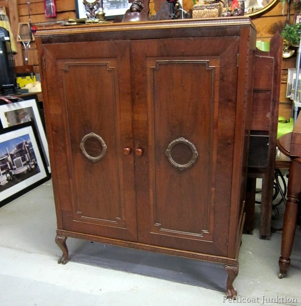 large vintage wood wardrobe junkin trip petticoat junktion