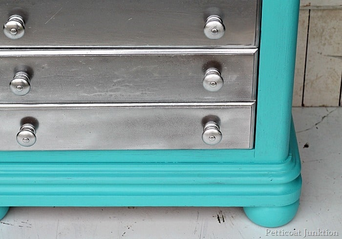 Silver spray paint and turquoise are the perfect pair - Bright turquoise paint colors ...