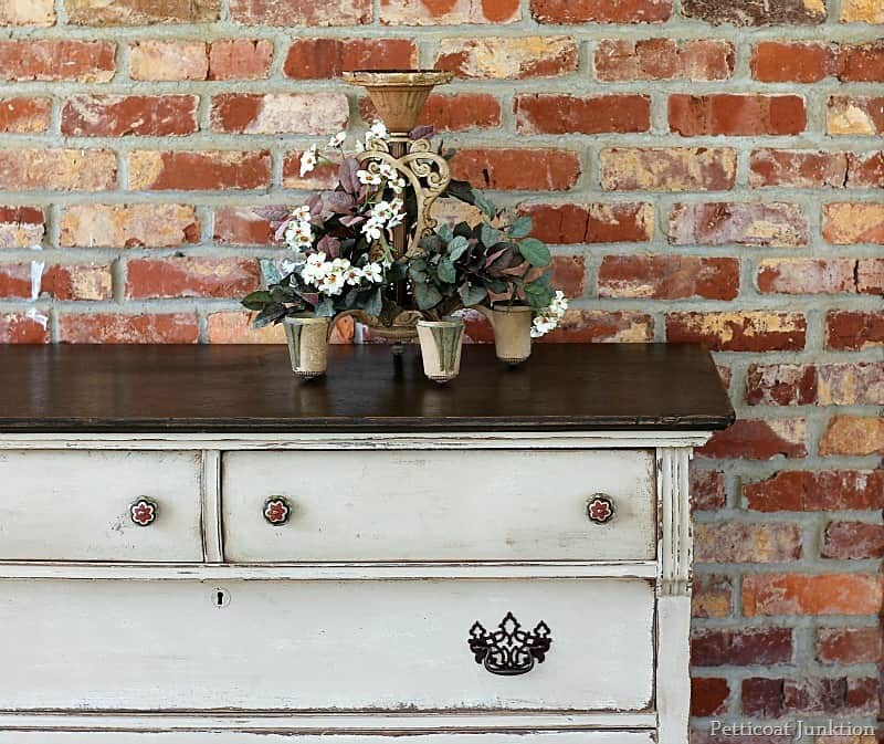 Painted Furniture Before And After Two Tone Finish Petticoat Junktion