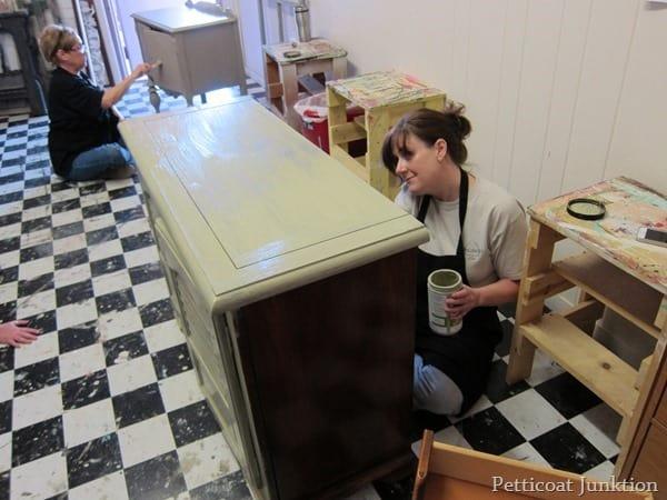 painting furniture workshop