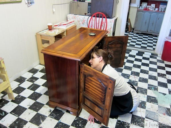 painting the interior of furniture