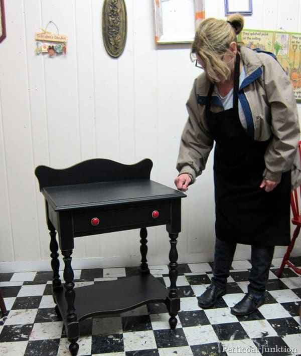 petticoat junktion workshop black painted furniture