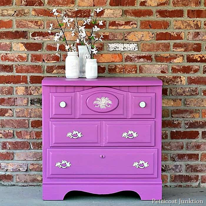 radiant orchid paint color for furniture