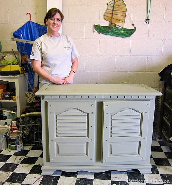 sage green cabinet petticoat junktion painting furniture workshop