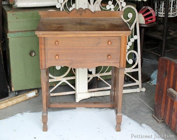 sewing table paint project Petticoat Junktion