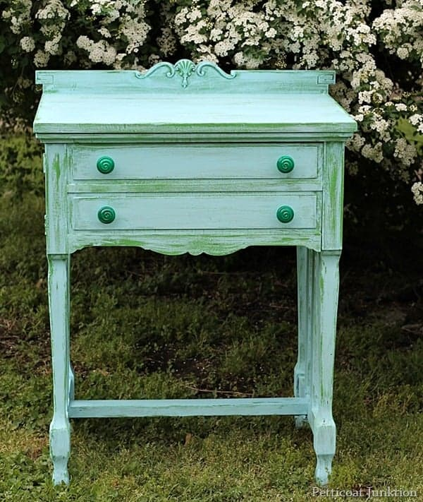 two layer green and turquoise paint finish petticoat junktion
