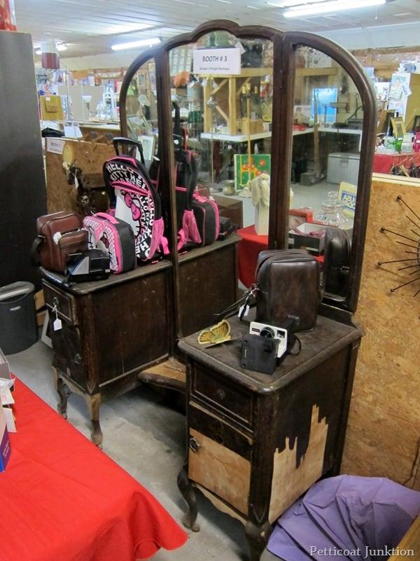 vintage dresser in need of repairs