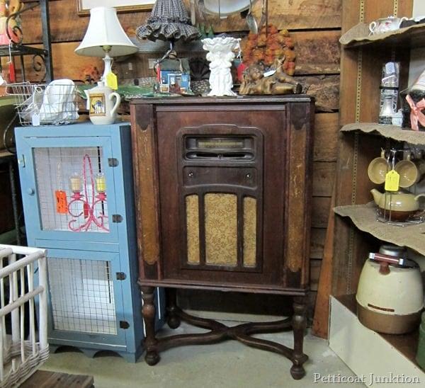 vintage radio cabinet junkin trip petticoat junktion