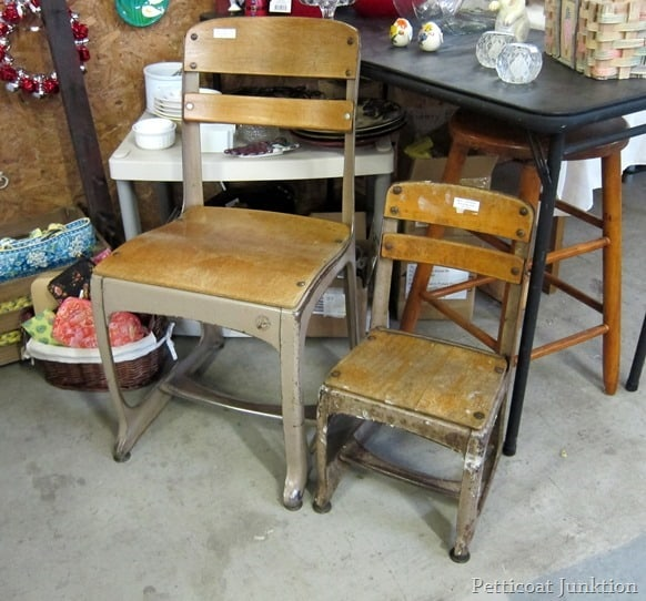 vintage school chairs junkin trip petticoat junktion