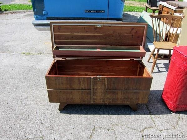 60's mid century modern cedar chest petticoat junktion