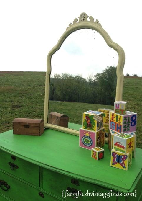 Antibes Green Dresser Farm Fresh Vintage Finds