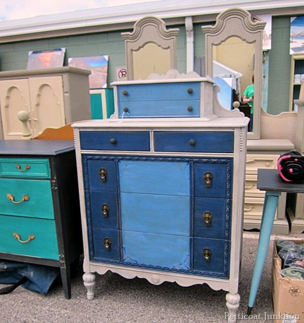 Beautiful painted furniture Nashville Flea Market Petticoat Junktion Shopping Trip