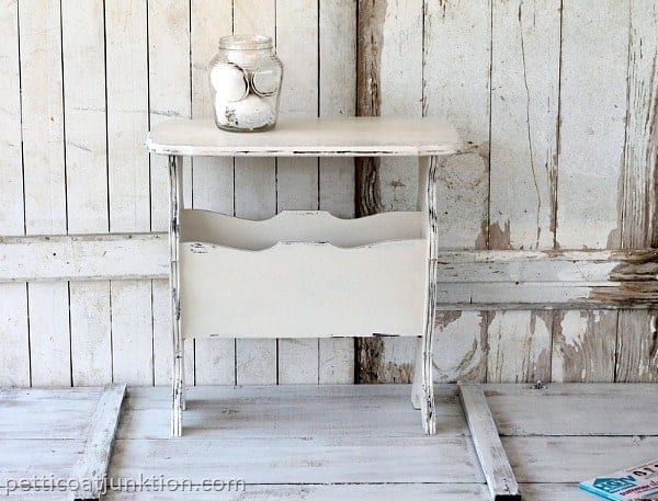 White Distressed Shabby Chic Furniture Makeover Petticoat Junktion