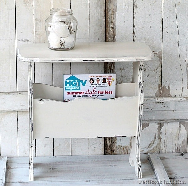 Cottage Chic White Magazine Table Petticoat Junktion