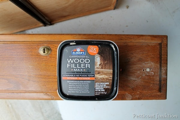Elmer's Wood Filler Max for project Petticoat Junktion