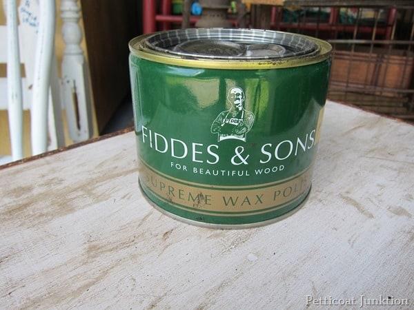 Fiddes Wax for darkening paint Petticoat Junktion