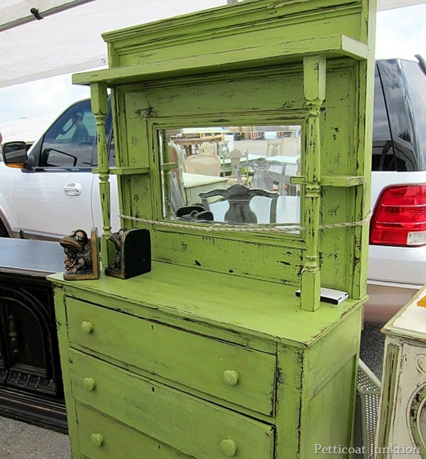 Nashville Flea Market Furniture Finds, vintage buffet