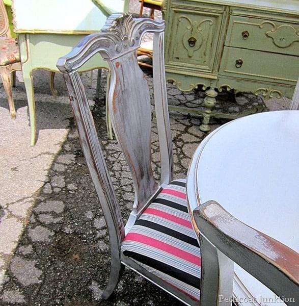 Metallic Silver Chairs Nashville Flea Market Petticoat Junktion Shopping Trip