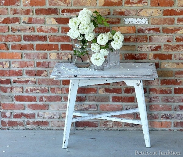 Painted Furniture by Petticoat Junktion using miss mustard seed milk paint in ironstone