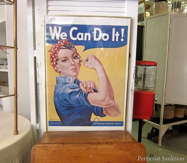 Rosie the Riveter sign Petticoat Junktion