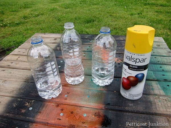 Spray Paint Plastic Water Bottles Petticoat Junktion