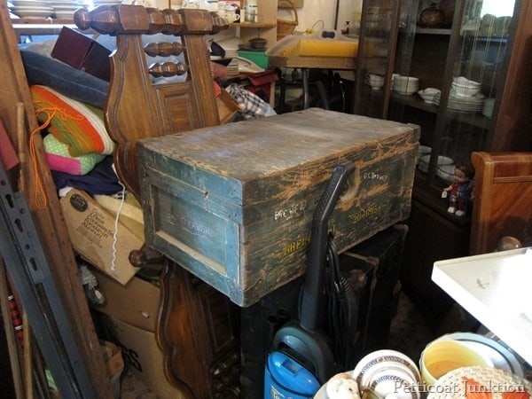 reclaimed wood trunk junk shopping trip Petticoat Junktion