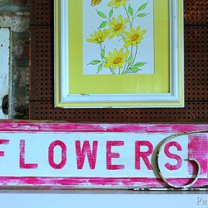 Stenciling Tips & A Flower Sign