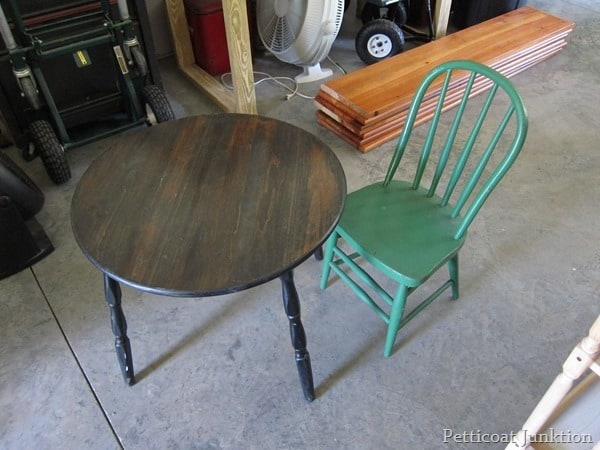 table and chair project Petticoat Junktion
