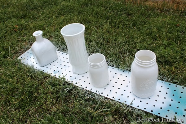 white spray paint for glass jars
