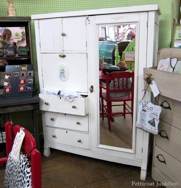 white wardrobe junkin' trip with Petticoat Junktion
