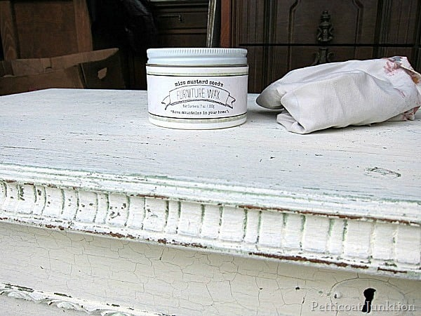 MMS Furniture Wax for Milk Paint Project Petticoat Junktion 2