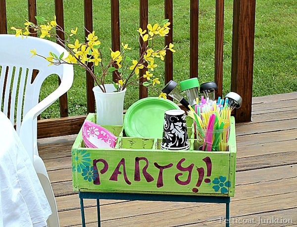 Patio Party Station Idea Petticoat Junktion