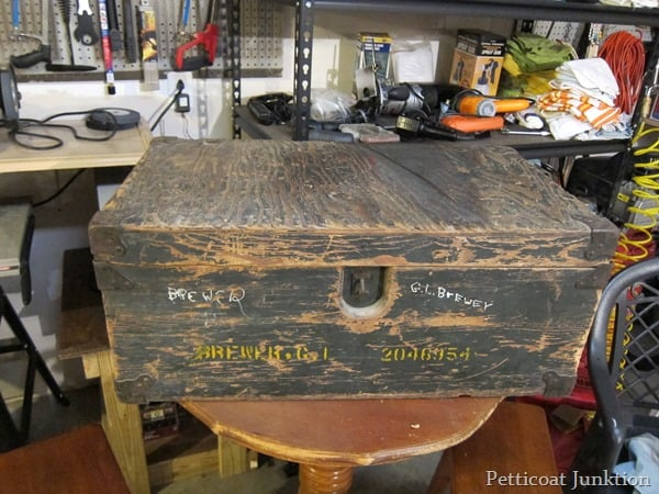 WWII Foot Locker table project