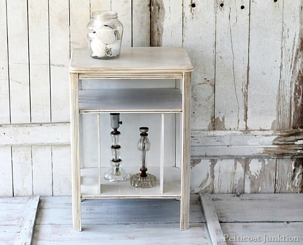 Antiqued White Furniture - Antiqued White Furniture Tutorial With Photos