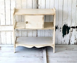 how to antique painted furniture